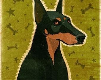 Dog Gifts- Black Doberman Print- Doberman Art- Dobie Art- Dog Print- Black Doberman Gifts for Pet Lovers- Gifts for Dog Lovers Gifts for Mom