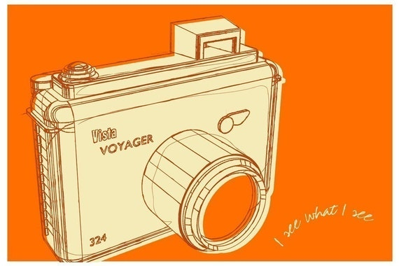 BOGO Print Sale - Lunastrella Camera Print 8 in x 12 in