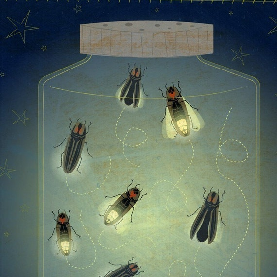 The Enlightened Fireflies Print 8.5 in x 11 in