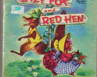 vintage Lazy Fox and Red Hen
