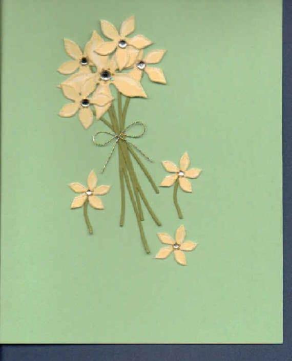 Handmade Flower Note Cards