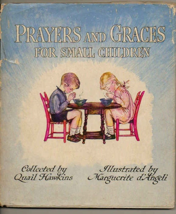 Prayers and Graces For Small Children vintage book