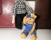 Vintage BMX Colourbox Bear by Peter Fagan Collectible and 12th Scale Doll House