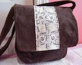 Brown Cordoroy Messenger Bag