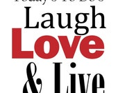 To Do - Laugh Love Live Vinyl Wall Decal