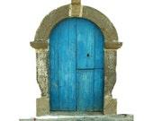 Short Blue Fae Door Vinyl Wall Decal