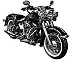 "Classic Hog Motorcycle Vinyl Wall Decal - 30"" x 58"""