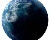 Alien Earth Planet Wall Decal