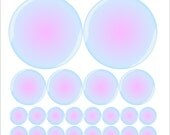 Whimsical Bubbles Decal Collection - 24 inches x 24 inches Sheet