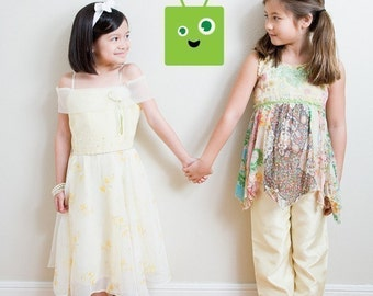 7 Inch Version of Little Green Guy Wall Graphic