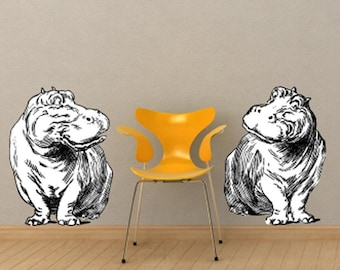 Hippos Vinyl Wall Decals