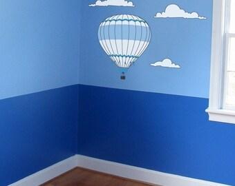 Hot Air Balloon Wall Decal