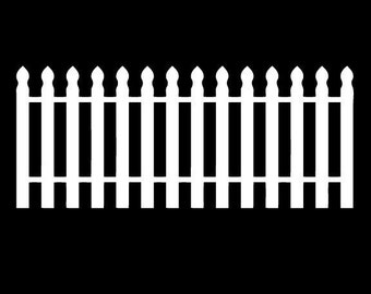 "Picket Fence Wall Decal 26"" tall x 108"" wide"