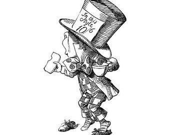 The Mad Hatter Vinyl Wall Decal