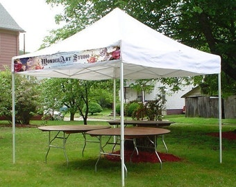 1 ft x 8 ft Custom Craft Show Banner Perfect for Top of Craft Show Tents