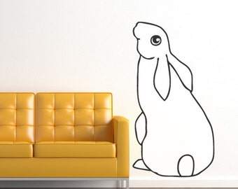 Giant Hare Vinyl Wall Decal