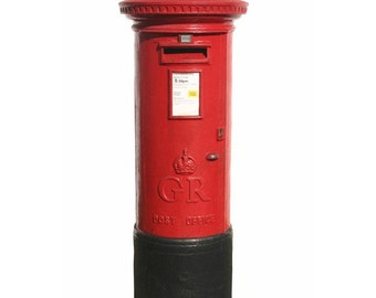 British Postal Box Vinyl Wall Decal 60 inches tall x 24 inches wide