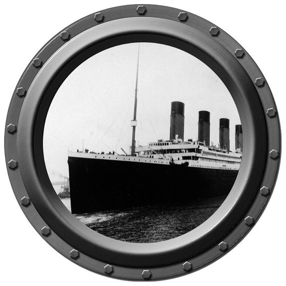 The Titanic  Porthole Vinyl Wall Decal