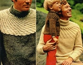S P I R A L . Y O K E - knit sweater patterns for adults and children (free shipping)
