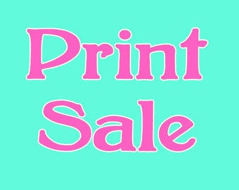 SALE: Any 4 small prints