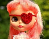 Heart Eyepatch for Blythe and Pullip