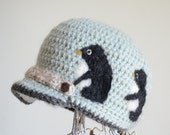 Wool brim hat / family Penguins
