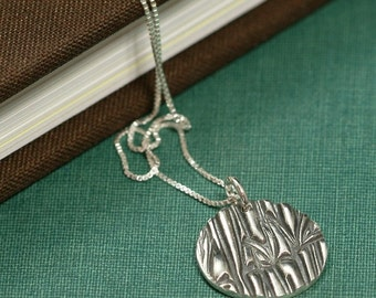 Bamboo Garden - Sterling Silver Disc Necklace