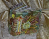Lacy Fabric Collaged Journal - SOLD