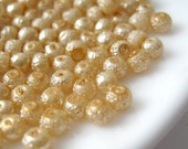 4mm Glass Pearl Matte Bead Round - Sandy Brown 200pcs