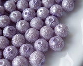 6mm Glass Pearl Matte Bead Round - Violet 100pcs