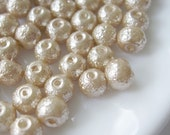 6mm Glass Pearl Matte Bead Round - Sandy Brown 100pcs