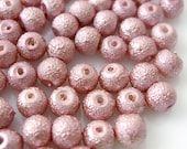 6mm Glass Pearl Matte Bead Round - Medium Orchid 100pcs