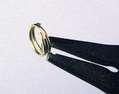 500 Gold Plated Split Rings 8mm Findings