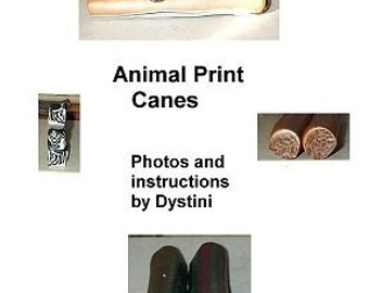 Tutorial Animal Print Canes Polymer clay ebook by Dystini