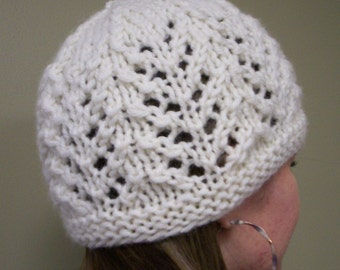 Knitting Pattern - Hat - Gull Lace Hat  - PDF - Instant download