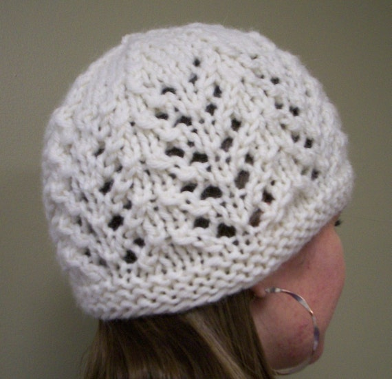 Knitting Pattern For Lace Hat : Knitting Pattern Hat Gull Lace Hat PDF by smokymountainfibers