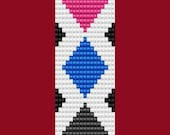 Argyle Diamond Bracelet Thin Bead Bracelet LOOM Pattern
