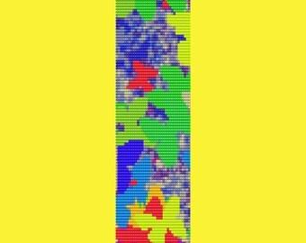 Butterflies In Flight Bracelet Bead Pattern LOOM