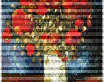 Van Gogh Red Poppies Tapestry Bead Pattern Loom Stitch