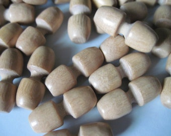 24 wood buttons