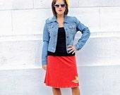 Luna Bird Skirt Rust