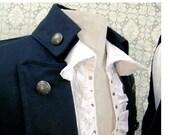 Mens black steampunk pirate vest size XL
