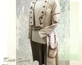 RESERVED Steampunk Wedding Tuxedo by Kristi Smart Frock coat Tail coat
