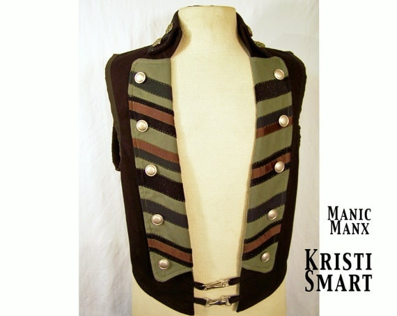 Mens handsome steampunk vest size medium