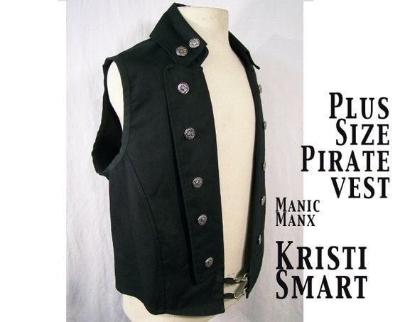 Mens plus size pirate vest xxxl