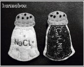 Salt and Pepper Shakers of Science - PINS BROOCHES - Felt Fuzzies