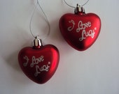 I Love Lucy Heart Ornaments