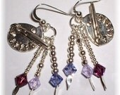 Artist Pallette Earrings in Sterling Silver and Crystal