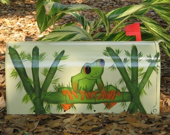 Hand Painted Handpainted Mailbox Mailboxes Tree Frog Tree Frogs Design