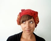 Hat crochet freeform: Red Mango